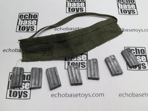 ACE 1/6th Loose Bandolier (7 Pocket,OD,w/7x 20rd M16 Magazines) #ACL6-X211