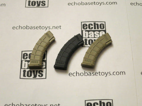 DAM Toys Loose 1/6th AK P Magazines (3x) #DAM4-X295