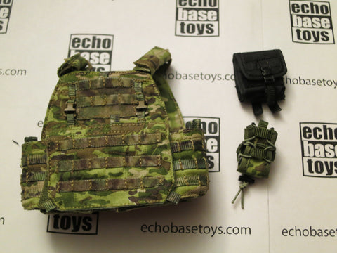 DAM Toys Loose 1/6th APC Plate Carrier (Multi-Cam,w/2x Accessories) #DAM4-Y620