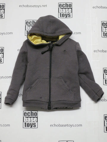 TOYS WORKS Loose 1/6th Hoodie (Grey/Bullet Holes) Modern Era #TZL4-U810