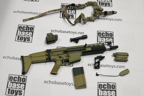 MCC Toys Loose 1/6th FN SCAR-H MK17 SBR Version (Tan,w/Acc) #MCC4-W420