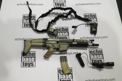 MCC Toys Loose 1/6th FN SCAR-L MK16 SBR Version (Tan,w/Acc) #MCC4-W400