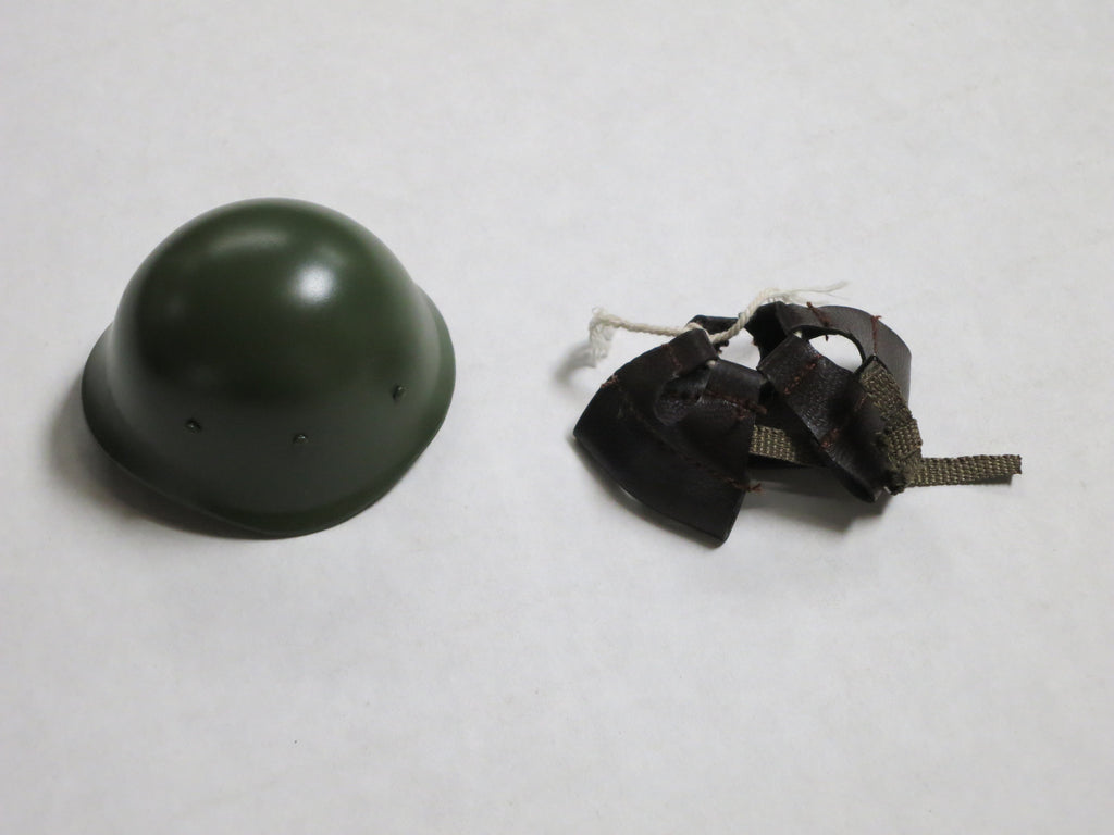 TOYS CITY Loose 1/6 WWII Russian M40 Helmet (Metal, Dark Green) #TCL5-H100