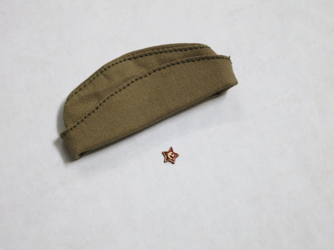 "TOYS CITY Loose 1/6 WWII Russian ""Pilotka"" Side Cap (w/Star Emblem) #TCL5-H200"