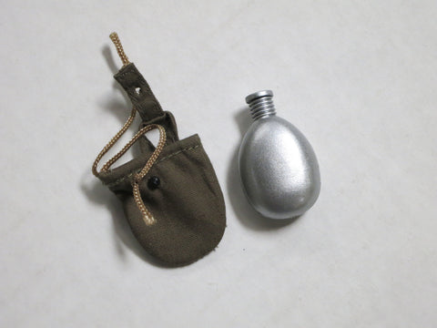 TOYS CITY Loose 1/6 WWII Russian Water Bottle & Pouch (OD,Fabric) #TCL5-P400