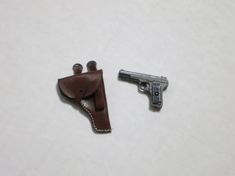 TOYS CITY Loose 1/6 WWII Russian Tokarov TT-30 Pistol (Die-Cast, w/Holster) #TCL5-W010