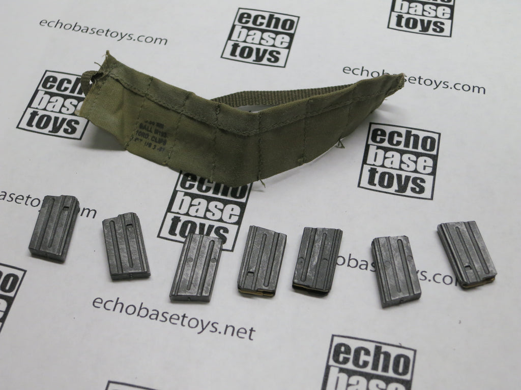 ACE 1/6th Loose Bandolier (7 Pocket,OD,w/7x 20rd M16 Magazines) #ACL6-X210