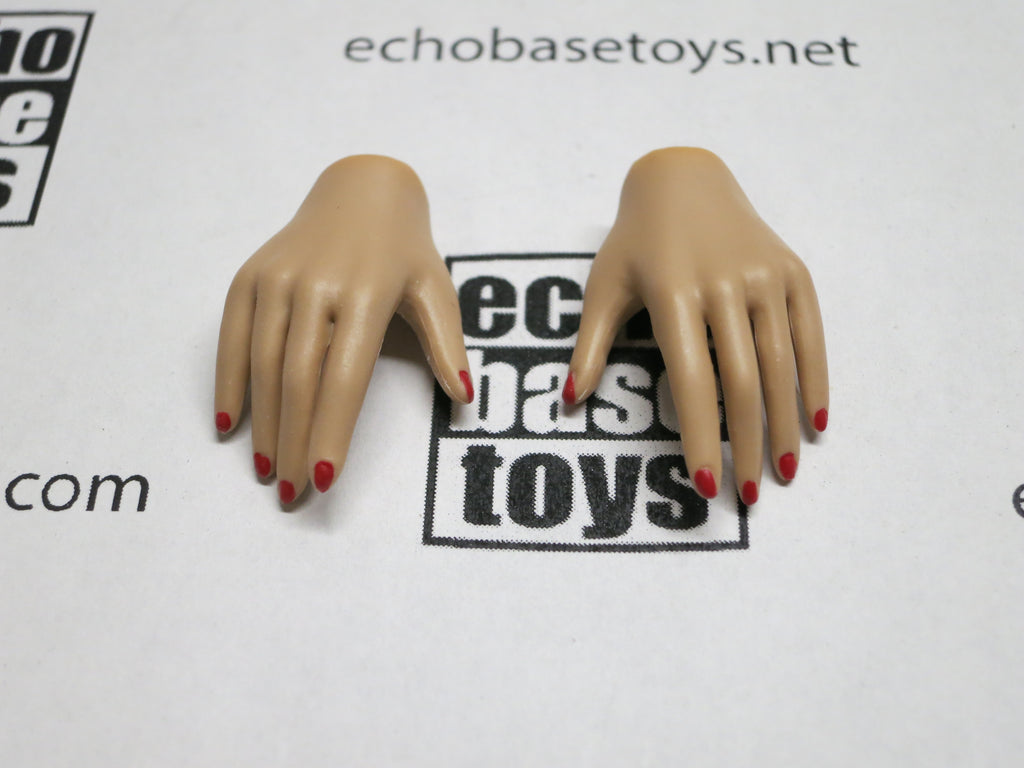 JIAOU DOLL 1/6 Loose Hands (Pair,Tan, Relax Grip) #JDL9-HD003
