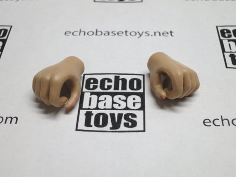 JIAOU DOLL 1/6 Loose Hands (Pair,Tan, Grip) #JDL9-HD002