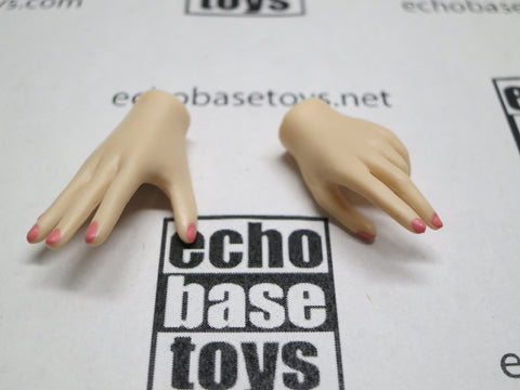 JIAOU DOLL 1/6 Loose Hands (Pair,Pale, Misc Grip) #JDL9-HD005A