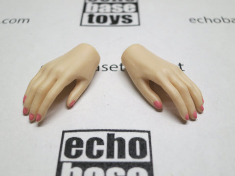JIAOU DOLL 1/6 Loose Hands (Pair,Pale, Relax Grip Narrow) #JDL9-HD004A