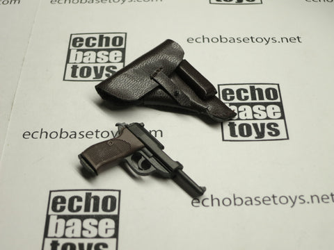 TOYS CITY Loose 1/6 WWII German P38 Pistol w/Holster (Brown) #TCG1-W005