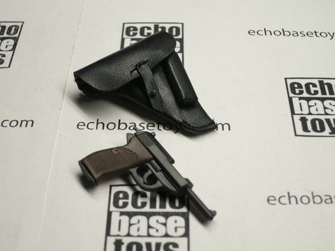 TOYS CITY Loose 1/6 WWII German P38 Pistol w/Holster (Black) #TCG1-W002