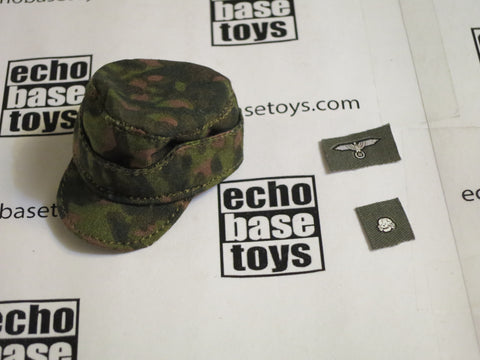 TOYS CITY Loose 1/6 WWII German M42 Field Cap (Blurred Edge,W/Emblems) #TCG1-H503A