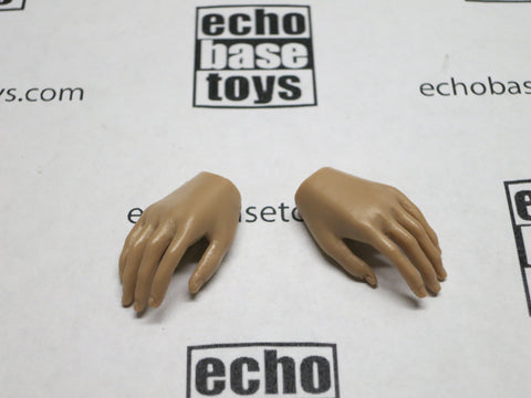 VERY COOL 1/6 Loose Hands (Pair,Medium Tan, Relaxed) #VCL9-HN003C