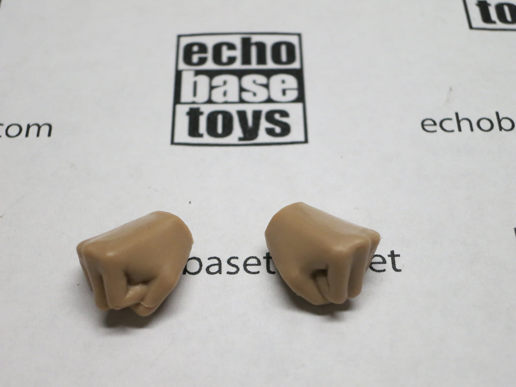 VERY COOL 1/6 Loose Hands (Pair,Medium Tan, Fist) #VCL9-HN002C