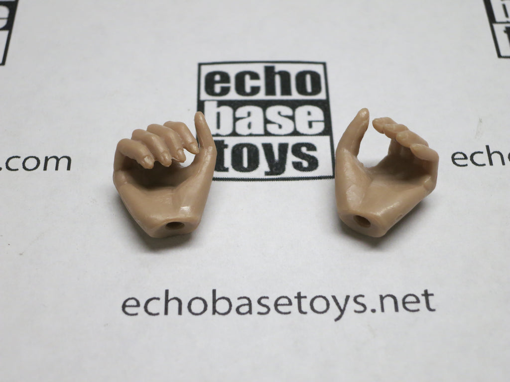 VERY COOL 1/6 Loose Hands (Pair,Tan,Grip) #VCL9-HD004B