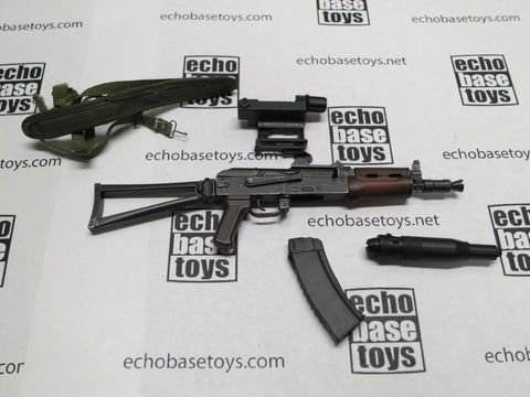 DAM Toys Loose 1/6th AKS-74U Assault Rifle (Short Version,Sling,Scope,Silencer) #DAM5-W100
