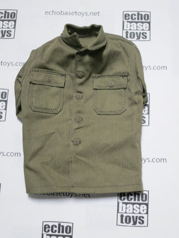 Soldier Story Loose 1/6th WWII USA Wood Shirt (OD) w/(OD Buttons) #SSL3-U030