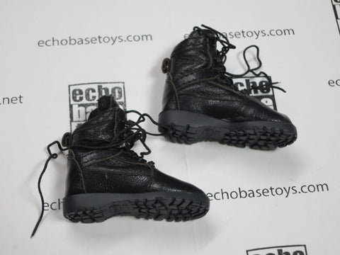 FLAG SET Loose 1/6th Combat Boots (09's Series, Chinese Police SWAT) Modern Era #FSL4-B500