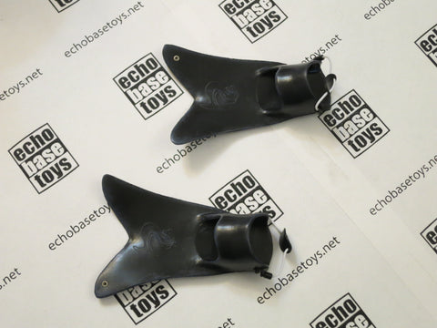 TOYS CITY Loose 1/6th Swim Fins (Black) #TCL4-B201