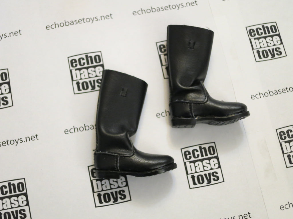 TOYS CITY Loose 1/6 WWII German Tall Boots (Black, Fabric) #TCG1-B001