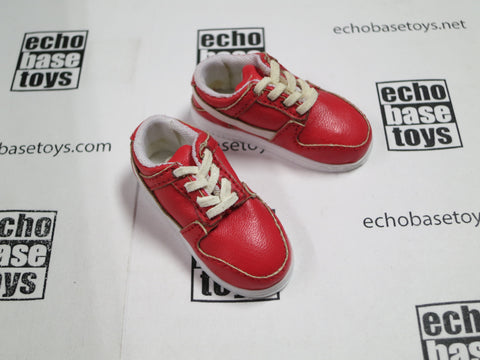 3A Loose 1/6th Sneakers AF1 Style (Red,Pair) #3AL4-B100