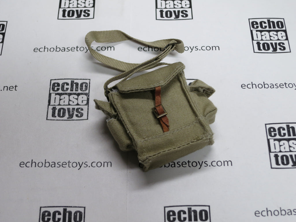 Dragon Models Loose 1/6th Scale WWII Russian Gas Mask Bag (Khaki) (Light leather strap) #DRL5-P404