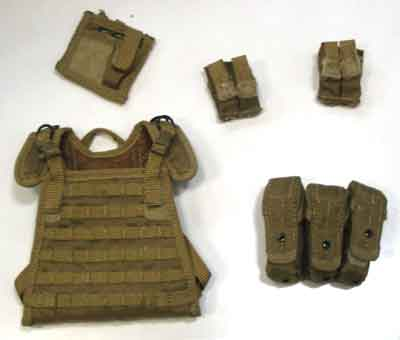 Play House Loose 1/6th Scale Modern STRIKE Commando Plate Carrier (Tan) #PHL4-Y100