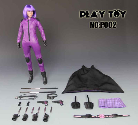 PLAY TOY 1/6 Action Figure Purple Girl Box Set #PT-P002