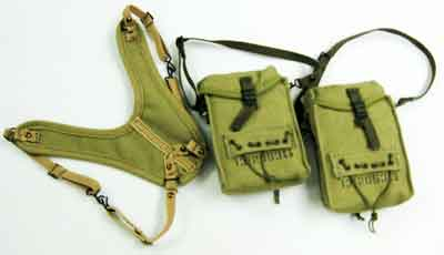 Soldier Story Loose 1/6th WWII USA Medic Pouch 2x w/Suspender #SSL3-P900