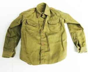Soldier Story Loose 1/6th WWII USA Wood Shrit (Brown) w/(Brown) Bottons #SSL3-U010