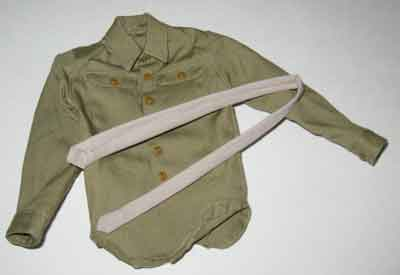 Soldier Story Loose 1/6th WWII USA Wood Shrit (Khaki) w/(Brown) Bottons w/Tie #SSL3-U020