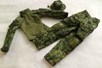 Soldier Story Loose 1/6th Gen2 Combat Uniform & Boonie Hat (AOR2) #SSL4-U491