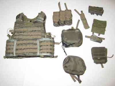 Soldier Story Loose 1/6th EBAV Vest w/Pouches (Ranger Green) #SSL4-Y250