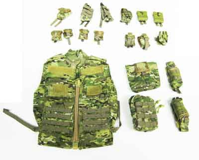 Soldier Story Loose 1/6th Crye Ranger Vest w/Pouches (Multi-Cam) #SSL4-Y402