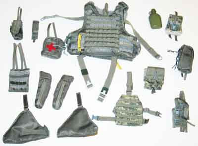 Soldier Story Loose 1/6th Helicopter Flightcrew Vest w/Pouches (Grey) #SSL4-Y850
