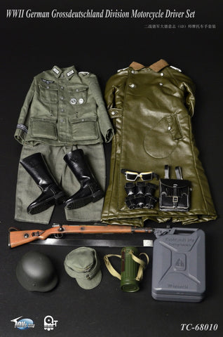 TOYS CITY 1/6 WWII German Grossdeutschland Division Motorcycle Driver Accessory Set #TC-6810