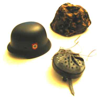TOYS CITY Loose 1/6 WWII German M35 Helmet (Metal,w/Autumn Oakleaf Cover) #TCG1-H100