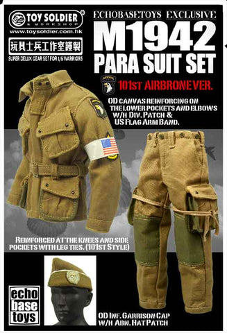 Toy Soldier 1/6th WWII US M1942 Para Suit Set (101st Airborne) #TS-550B