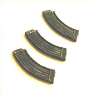 Toy Soldier Loose 1/6th 30rd AK Magazines (3/pack) Modern Era #TSL4-X102