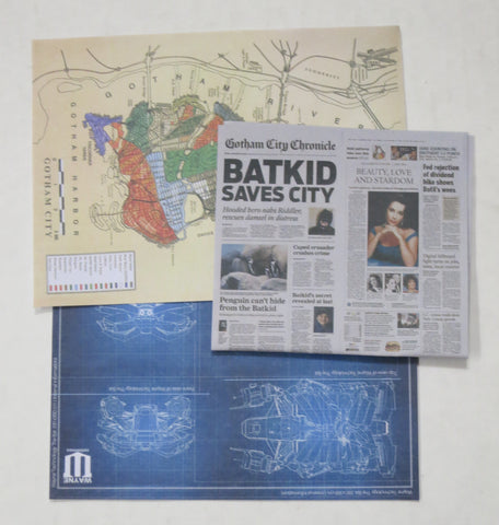 VIRTUAL TOYS Loose 1/6th Map/Blue Print/Newspaper #VTL4-A600