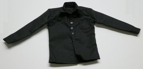 ZY TOYS Loose 1/6 Modern Shirt (Black/Button Up) #ZYL9-U400
