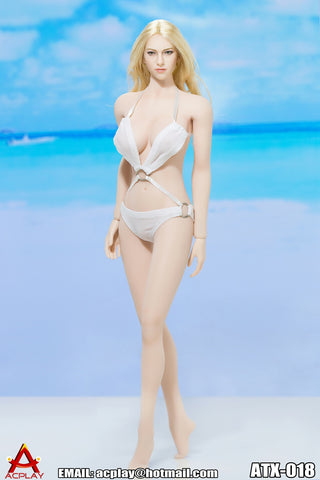 "AC PLAY 1/6 Swimming Suit Accessory Set B ""White"" #AP-ATX018B"