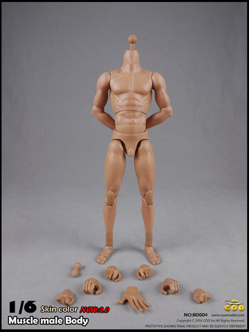 COO MODEL 1/6 Male Muscle Body 2.0 Action Figure Set (Tall Height) #CM-BD004