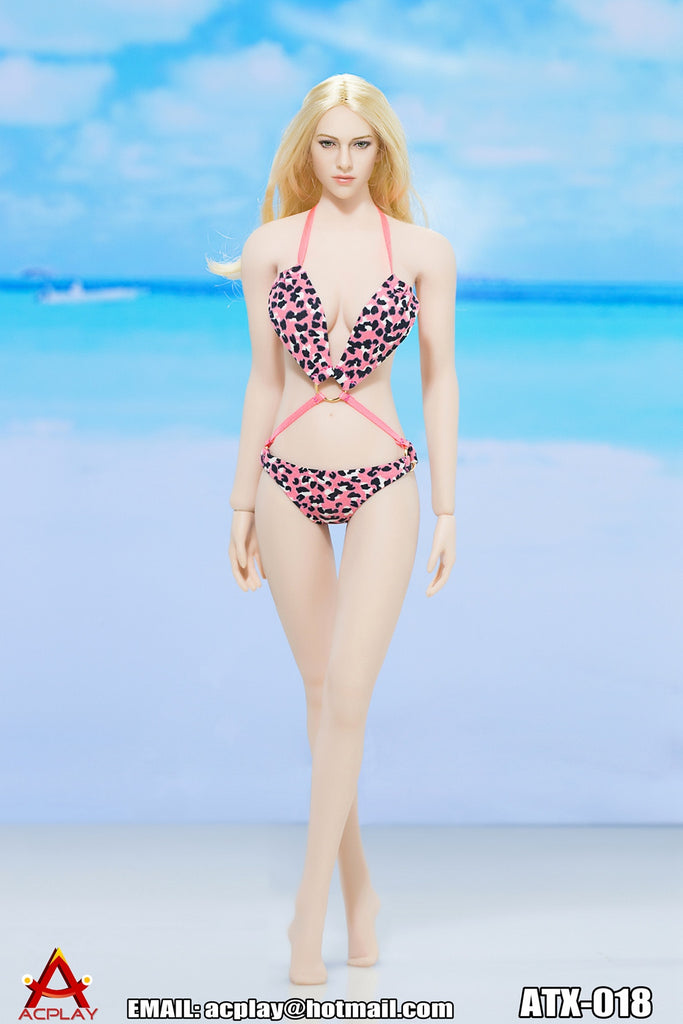 "AC PLAY 1/6 Swimming Suit Accessory Set E ""Pink w/Dots"" #AP-ATX018E"