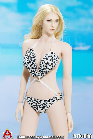 "AC PLAY 1/6 Swimming Suit Accessory Set F ""White w/Dots"" #AP-ATX018F"