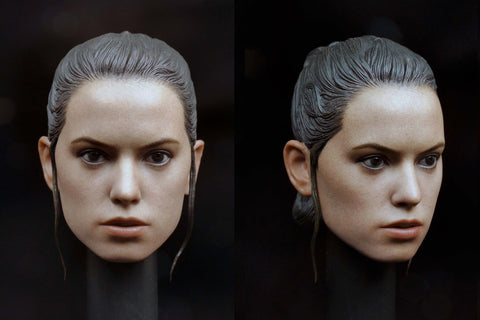 1/6 Loose Rey (D. Ridley) Custom Female Head Sculpt #MISC-H027