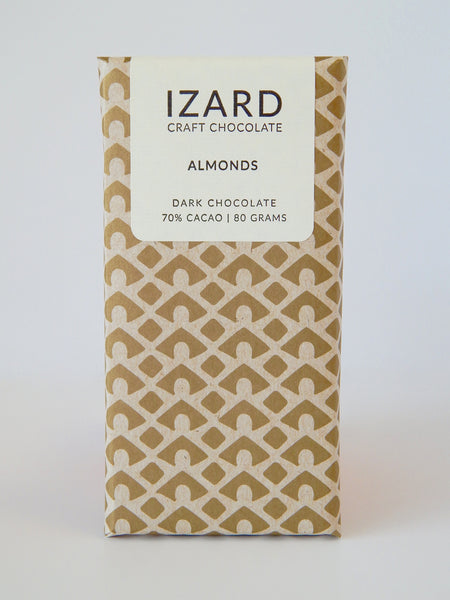 Almond Bar - California Almonds - 70% Dark Chocolate