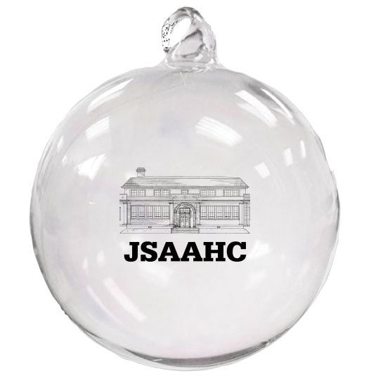 Hand blown glass Christmas ornament